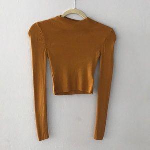 Top shop sweater crop top